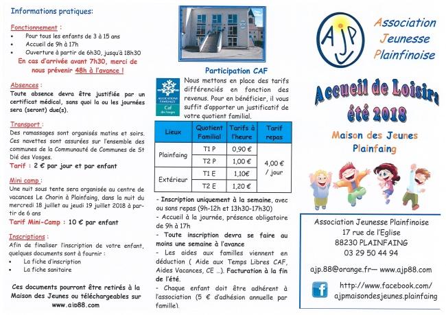 Juillet Association Jeunesse Plainfinoise